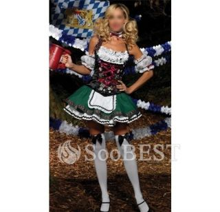 Sexy Beer Girl Maid Fancy Halloween Costume Cosplay Party Lace Dresses