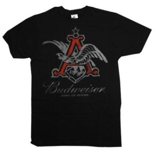 Budweiser King of Beers Logo Vintage Style Beer Alcohol Adult T Shirt