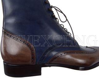 Francesco Benigno Hand Burnished Ankle Boots UK 6 Italian Designer