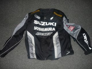 Joe Rocket Suzuki Motorcyle Jacket with Full Pads and Liner XL R GSX