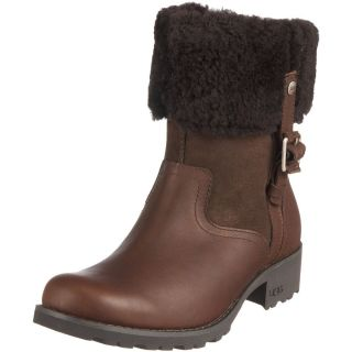 NEW 220 UGG Australia Bellvue II Boots Brown Leather Womens 5