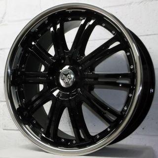 20 Bentley Mulsanne 2010 2011 Wolfrace Vermont Black Alloy Wheels