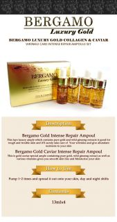 BERGAMO] Luxury Gold Collagen & Caviar Wrinkle Care Intense Repair