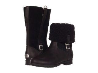 UGG Bellevue III Waterproof Leather Fashion Shearling Boots Black