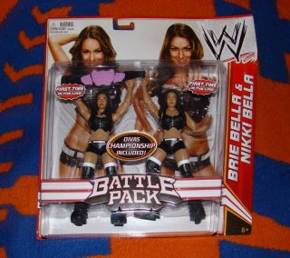Bella Twins WWE Mattel Brie Nikki Battle Pack Divas Title Belt