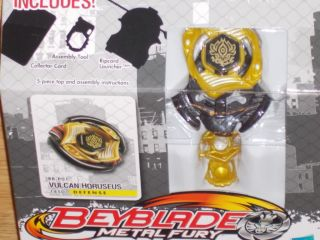 New Hasbro Beyblade Metal Fury Vulcan Horuseus BB P01 145D Defense Top
