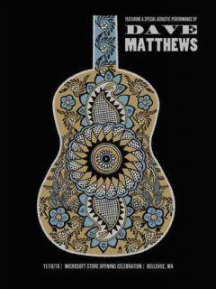 2010 Dave Matthews Band Microsoft Bellevue 10 Concert Tour Poster 11