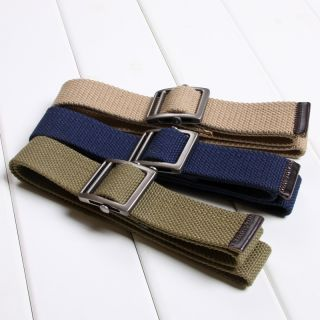 Color Mens Boys Web Belts Move Buckle Military Thicker Canvas Belt