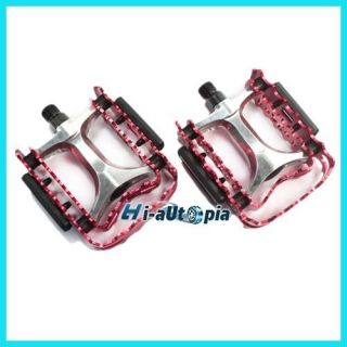 BMX Mountain Road Bike Bicycle Pedals 9 16 Pair Red