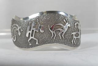 Native American Ben Nighthorse N Cheyenne Sterling Silver Mimbres
