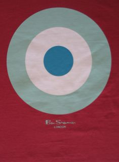 New Mens Ben Sherman Heritage Target T Shirt Mod Fit Size s M L XL