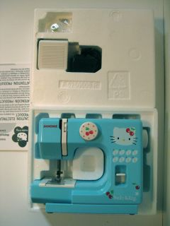Adorable Hello Kitty Janome Sewing Machine Complete in Great Condition