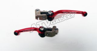 Shorty Front Brake & Clutch Levers Honda CRF250R 07 08 09 10 11 CR Red
