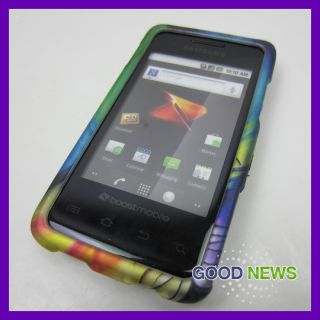 Boost Mobile Samsung Galaxy Prevail Colorful Feather Hard Case Phone