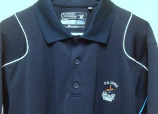 BUCK Mens Golf SHIRT / LARGE / NAVY / 2009 US OPEN / BETHPAGE BLACK