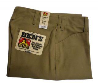 Ben Davis Original Classic 50 50 Blend Mens Twill Pants Khaki 695