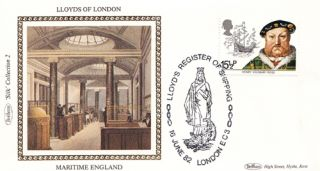 Lloyds Bank Shipping London of Benham First Day Cover