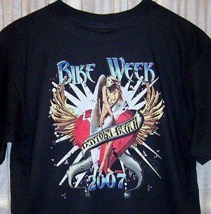 Classic Daytona Beach Bike Week T Shirt 2007 Sz SM 5X