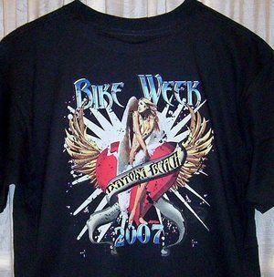 Classic Daytona Beach Bike Week T Shirt 2007 Sz SM 5X