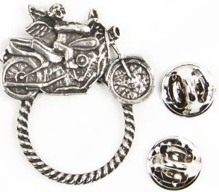 Motorcycle Pewter Motorcycle Style Sunglass Holder Biker Pins