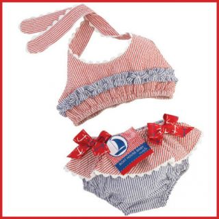 Mud Pie Girls Bikini Seersucker Swimsuit 2T 3T Toddler