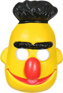 Childs Sesame Street Bert Halloween Costume PVC Mask