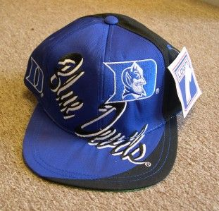 Duke Blue Devils Hat Blue Black Snap Back Flat Bill Cap