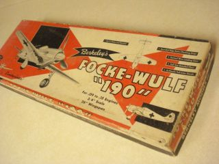 Berkeley Focke Wulf 190 Controliner Model Airplane Kit