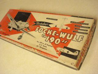 Berkeley Focke Wulf 190 Controliner Model Airplane Kit
