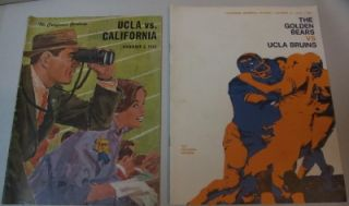 UC Berkeley vs UCLA Bruins Football Game Programs. Lot of 12