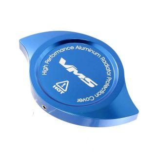 VMS Blue Anodized Billet Aluminum Radiator Cap Cover CNC Machined