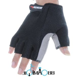New Cycling Bike Bicycle Half Finger Gloves Size M XL Black