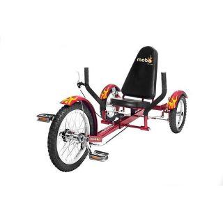 New Mobo Recumbent Cruiser Bicycle Bike 3 Wheel Trike Red