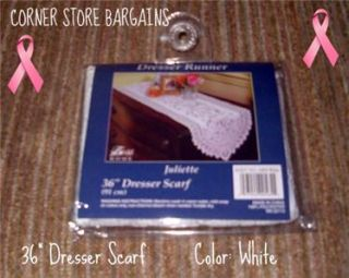 lace dresser scarf 36 white new table runner