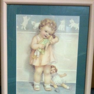 BESSIE PEASE GUTMANN CUSTOM FRAMED PRINT LARGE