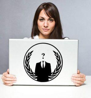 Anonymous Crest ANON Globe Suit   Vinyl Car / Laptop / Wall Sticker