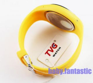 2012 New Diving Clock Mens Gents Sports Watch Yellow Binary LED Watch