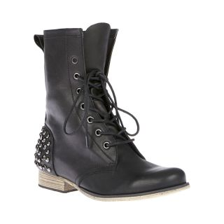 Betsey Johnson Black Kinderr Motorcycle Studded Boots All Sizes