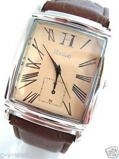 Newly listed Mens Henley Designer Watch Gents Gift Beige Face ( HM4)