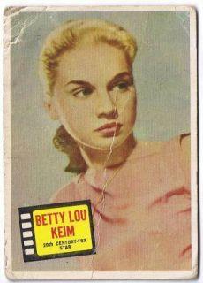 1957 Topps Chewing Gum Hit Stars Betty Lou Keim 75