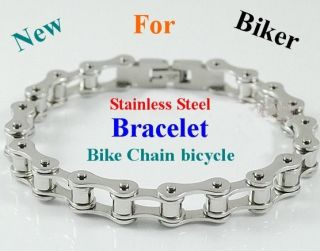 HAND CHAIN Mens Bracelet Stainless Steel Bracelet Bike Chain bicycle 8