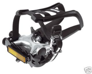 Avenir Mountain Bike Pedals Toe Clips and Straps AVR210