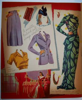 Betty Field Paper Doll Book 1943 Saalfield Uncut Complete Original 8