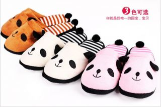 C6805 New Women Mens Cute Animal Panda Anti Skidding House Slippers