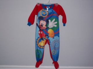 Disney Boys Mickey Mouse Pajamas Sz 24 Months Cute