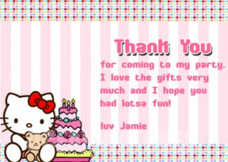 Hello Kitty Personalized Birthday Party Photo Invitations Party Favor