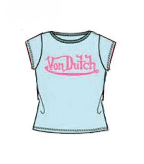 Von Dutch Kids Girls Logo T Shirt Top Tee Size 7 8 $25