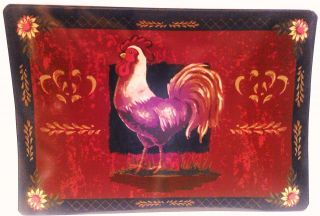 Set of 4 Table Rooster Bistro Cafe Kitchen Vinyl Placemat Place Mat