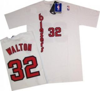 Portland Blazers Bill Walton T Shirt Jersey Large Wht