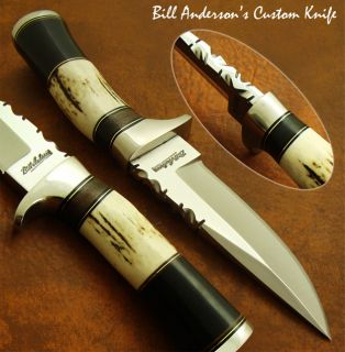 Bill Andersons 1 of A Kind Stunning RARE Custom Knife Stag Antler